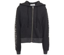 Printed Cotton-blend Fleece Hoodie