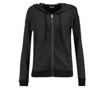 Hooded Jersey Jacket Schwarz