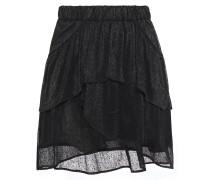 Huge Tiered Metallic Gauze Mini Skirt