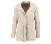 Slub cotton and linen-blend top