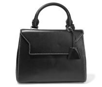 Alecia Mini Leather Tote Schwarz