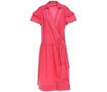 Wickelkleid aus Popeline aus Einer Baumwollmischung mit Schleife
