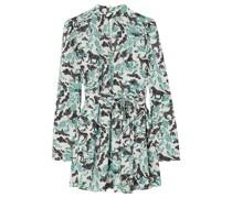 Tania Bedrucktes Minikleid aus Jacquard mit Gürtel