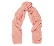 Sandy Modal, Linen And Silk-blend Scarf Altrosa
