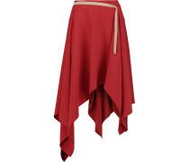 Asymmetric Cady Midi Skirt Rot