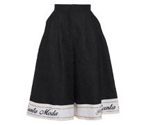 Embellished Cotton-blend Jacquard Culottes