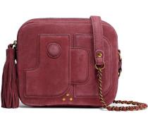 Embellished Suede Shoulder Bag