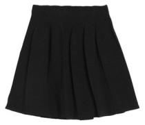 Pleated knitted mini skirt
