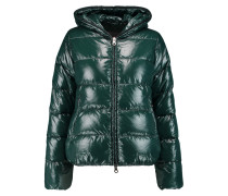 Thiacinque Quilted Shell Down Hooded Coat Smaragdgrün