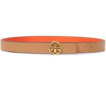 Reversible Pebbled-leather Belt