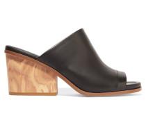 Tilda Leather Mules Schwarz