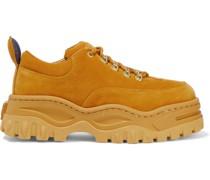 Angel Plateau-sneakers aus Veloursleder