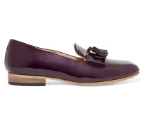 Gaston Patent-leather Loafers Dunkellila