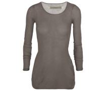 Ribbed Modal And Cashmere-blend Top Grau