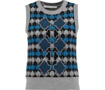 Loran embellished intarsia-knit merino wool sweater