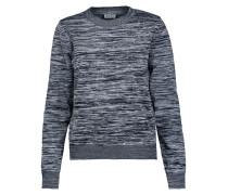 Marled Stretch-knit Sweater Mitternachtsblau