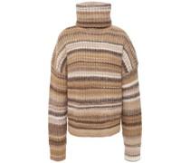 Kelley Striped Wool-blend Turtleneck Sweater