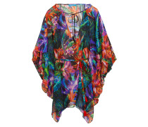 Draped Floral-print Coverup Mehrfarbig