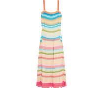 Crochet-knit Maxi Dress Mehrfarbig