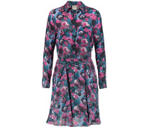 Printed Silk-crepe Shirt Dress Mehrfarbig
