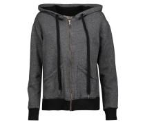 Cotton-blend Hooded Sweatshirt Anthrazit