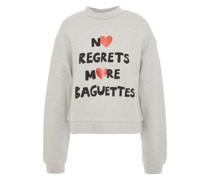 Bedrucktes Sweatshirt aus Baumwollfleece