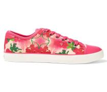 Barbara Floral-print Canvas Sneakers Pink