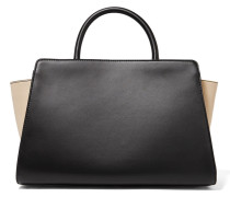 Eartha Iconic Two-tone Leather Tote Schwarz