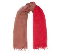 Frayed Degradé Cashmere And Silk-blend Scarf