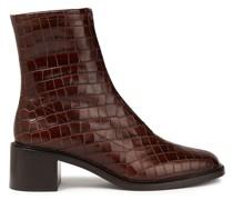 Bruna Ankle Boots aus Leder mit Krokodileffekt