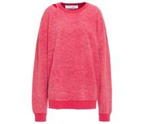 Holman Cutout Cotton-blend Fleece Sweatshirt