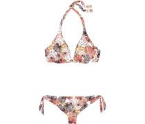Printed halterneck bikini