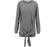 Sofy Tie-front Wool And Cashmere-blend Sweater Grau