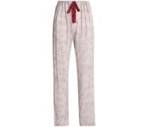 Printed jersey pajama pants
