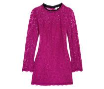 Tybalt Corded Lace Mini Dress Knallpink