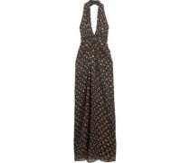 Evelina printed silk-chiffon gown