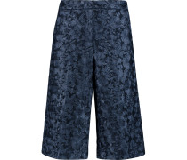 Embroidered Tulle Shorts Mitternachtsblau
