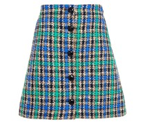 Cotton-blend Jacquard Mini Skirt