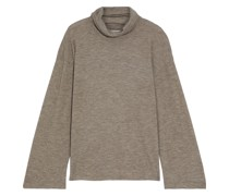 Zalani Oversized Mélange Stretch-cashmere Turtlneck Sweater