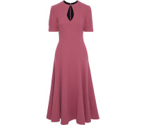 Ludovica Cutout Wool-crepe Midi Dress