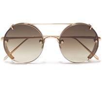 Round-frame -tone Sunglasses