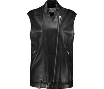 Abrega Leather Vest Schwarz