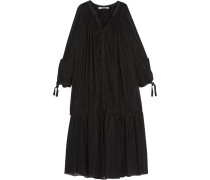 Ryde Cutout Stretch-plissé Gauze Dress Schwarz
