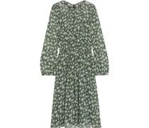 Ruffle-trimmed Floral-print Gauze Dress