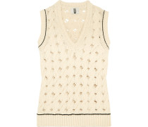 Ixworth Cable-knit Cotton-blend Tank Creme