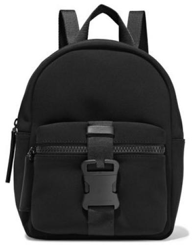 Leather-trimmed Buckle-detailed Neoprene Backpack Black Size --
