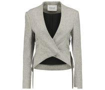 Cropped Tweed Jacket Grau