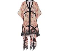 Miranda asymmetric printed silk midi dress