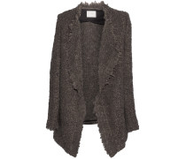 Campbell Oversized Textured-knit Cardigan Braun