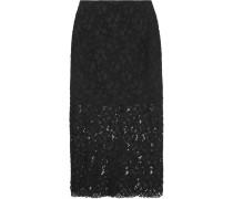 Jacinth Guipure Lace Skirt Schwarz